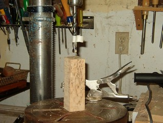 Choosing a piece of  bird's eye maple for the handle