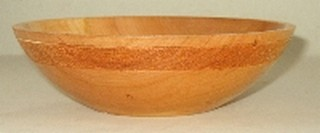 black cherry bowl with textured band