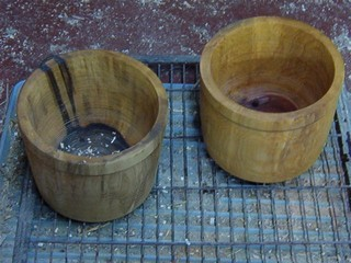 make your own wood flower pots,