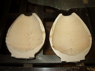 hollow form cut in two