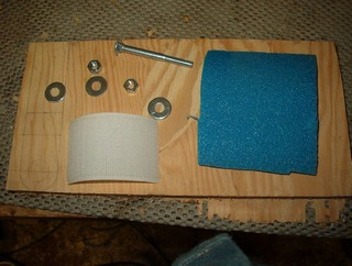 supplies for a sanding pad