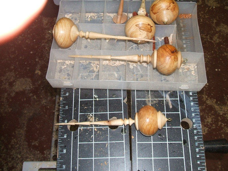 Wood Turning Christmas Ornament Ball And Icicle 10