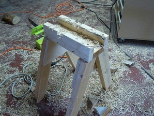 a sawbuck  for the shop or wood pile